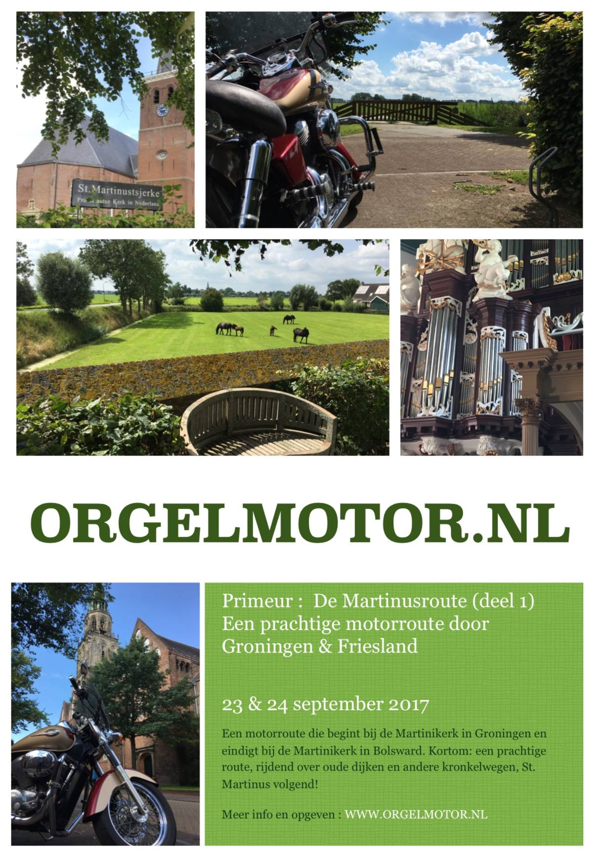 Flyer Orgelmotor.nl & St. Martinusroute